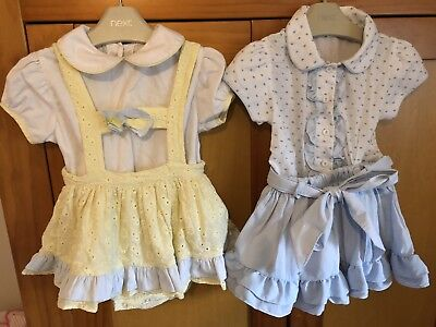 2 Pretty Originals Outfits Shirt & Skirt & Bodysuit & H Bar Skirt 12 Months