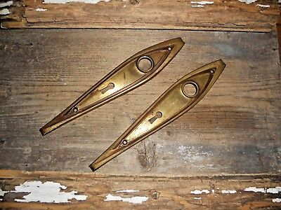 Vtg Art Deco Tear Drop Fancy Antique Door Knob Backplates Art/craft Pinterest