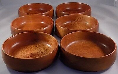 Viintage Baribo  maid  6 maple salad bowls