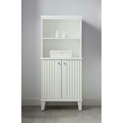 Martha Stewart Living Parker 26x14x60 in. H Double Door Tall Side Unit Cabinet i
