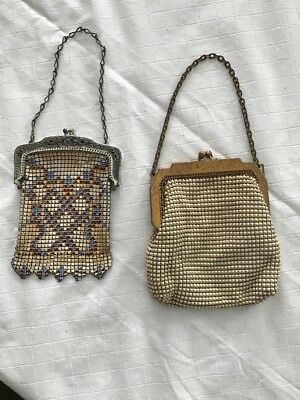 Pair Of Vintage Whiting & Davis Mesh Handbags 1920's - 1930's