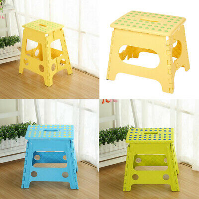Plastic Step Stool Folding Foldable Multi Purpose Chair Heavy Duty Ladder