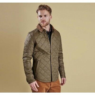 Barbour Men's Royston Quilted Jacket, New With Tags, Olive Green, Small