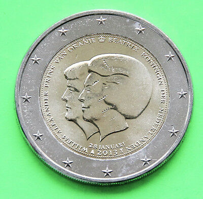 2 Euro Gedenkmünze Niederlande 2013 **Thronwechsel Beatrix & Willem-Alexander**
