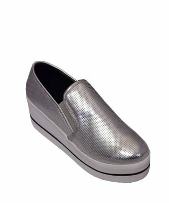 aa4f8163d0f STEVE MADDEN BECCA Slip On Sneaker in Silver - Brand New with Box ...