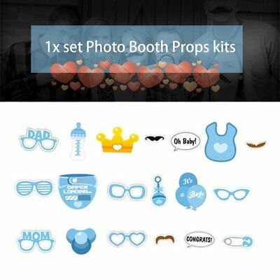 Baby Birthday Party Decorations Photo Booth Props DIY Kits Fun Supplies MO