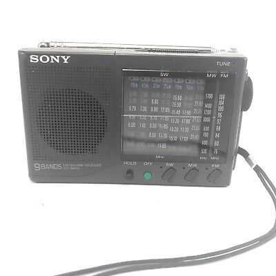 Sony ICF-SW22 FM/SW1-7/MW 9 Band Receiver, Made in Japan, no batt cover, Tested