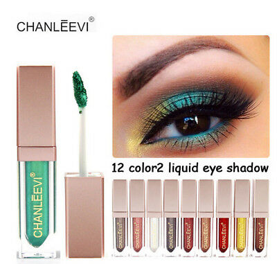 12colors Eyeshadow Liquid Waterproof Glitter Eyeliner Shimmer Makeup Beauty Gift