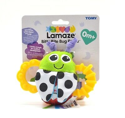 Lamaze Bitty Bite Bug Rattle For Babies 0 Months +