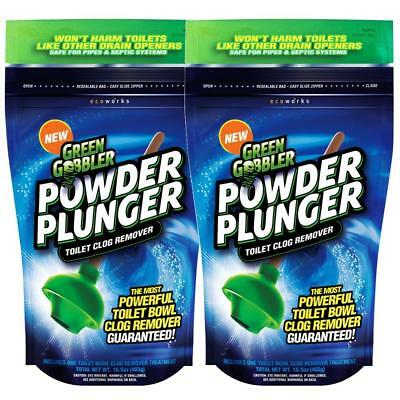 Green Gobbler POWDER PLUNGER Toilet Clog Remover | Drain Opener | Sink | Shower