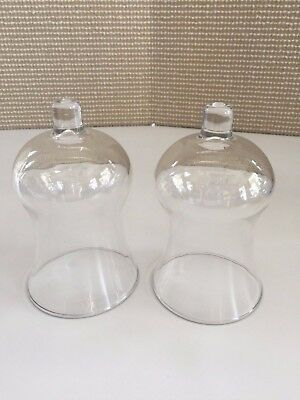 Home Interior Tall Clear Votive Cups Set of 2 HOMCO