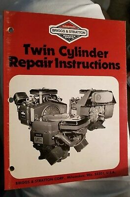 Briggs & Stratton Twin Cylinder Repair Instructions Manual