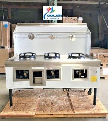 NEW Commercial 3 Hole Wok Range Chinese Cuisine Restaurant NSF Certified