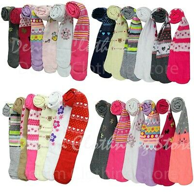 6pc Girl Toddler Warm Winter Solid Print Assorted Tights Under Shorts Skirt Lots