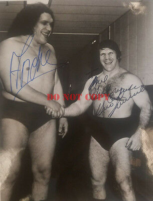 ANDRE THE GIANT & BRUNO SAMMARTINO SIGNED 8X10 AUTOGRAPHED PHOTO Reprint