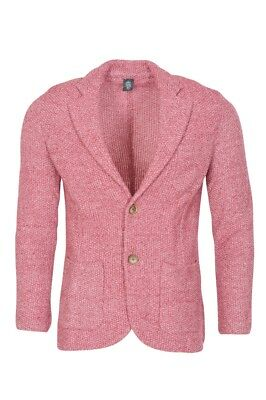 Eleventy Blazer Men's M SALE !! Red Slim Fit  knitted Linen