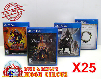 25X Sony Playstation Ps4 Cib Game -Clear Plastic Protective Box Protectors Case