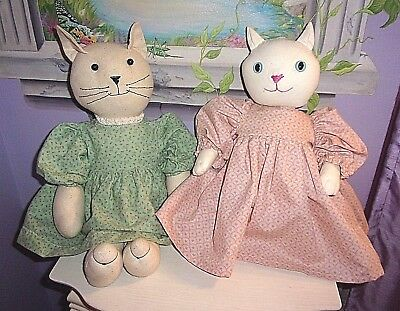 Two Cute Dressed Country Style Cats