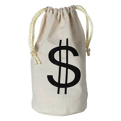 Fabric Money Bag Table Decor Prop Casino Western 1920's Pirate Birthday Party