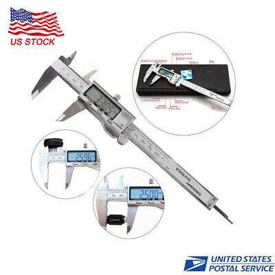 LCD Digital Vernier Caliper Electronic 150mm Stainless Steel Micrometer Gauge