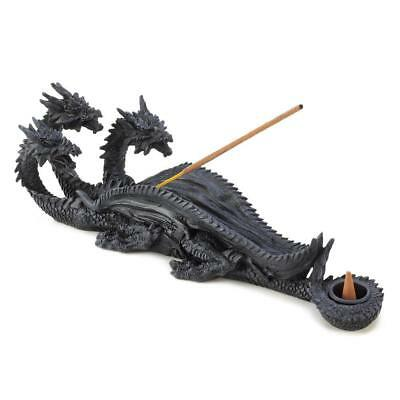 Sinister Triple Head Dragon Incense Burner