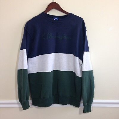 Vintage 90s Champion Colorblock Spellout Sweatshirt - Size XL/XXL - Made in USA