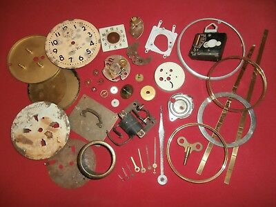 Lot of CLOCK PARTS Gears, Dials, Hands, etc--for PARTS-REPAIR or STEAMPUNK ART