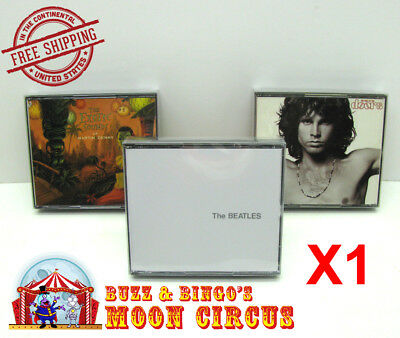 1x MUSIC DOUBLE CD JEWEL CASE - CLEAR PROTECTIVE BOX PROTECTOR SLEEVE CASE