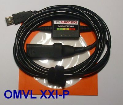 OMVL Dream XXI-P LPG GPL Diagnose Kabel USB INTERFACE +Softw./Anleitung