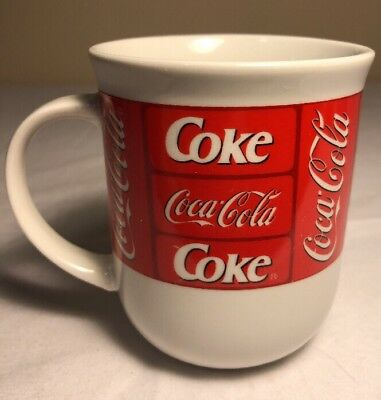Coca Cola Cafe Mug Cup by Sakura Coffee Tea Microwave Safe White Red