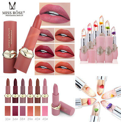 MISS ROSE Lipstick Matte Waterproof Long Lasting Lip Cosmetic Beauty Makeup