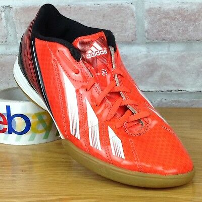 new concept a1843 49eea Adidas F10 Mens US 7 Indoor Soccer Shoes Orange White Black Cleats Sport  Cleats
