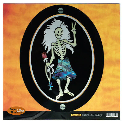 Jerry Garcia Grateful Dead / Rosebud Dancing Skeleton Sticker Decal For Guitar