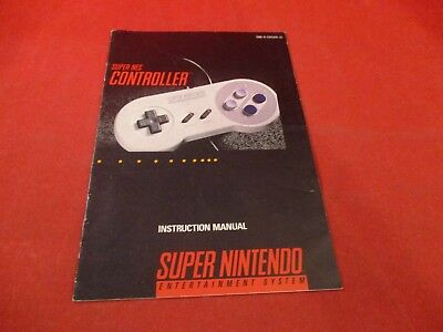 Super Nintendo SNES Controller Remote Paddle Instruction Manual Booklet ONLY