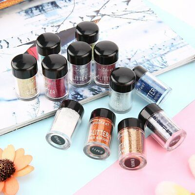 POPFEEL 12PCS Face & Body Glitter Kit for Party Invitations Holiday Crafts QK