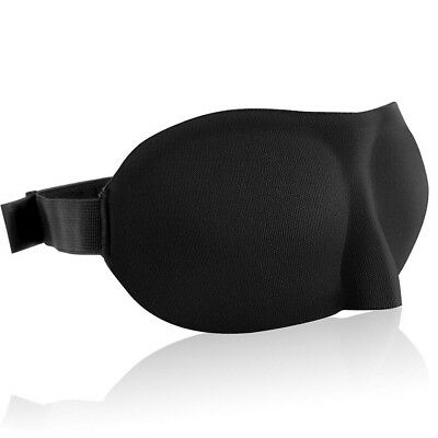 3D Travel Eye Mask Eyepatch Padded Shade Cover Sleeping Blindfold Sleep Soft