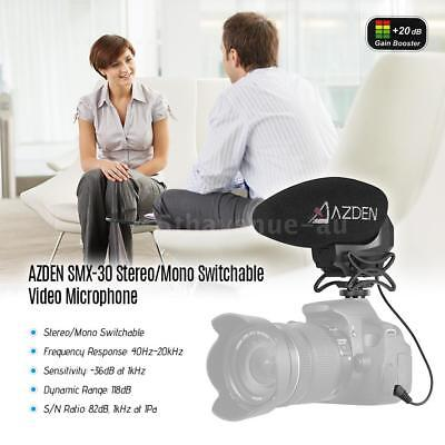 Azden SMX-30 Stereo / Mono Switchable Video Microphone for Digital Cameras D3E0