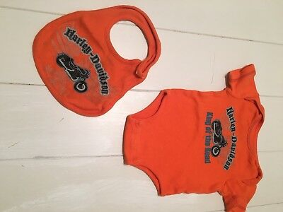 Harley Davidson Infant Outfit And Bib