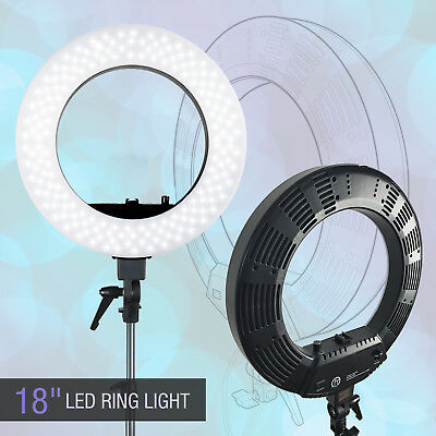 """Lusana Studio Photography Dimmable 18"""" LED Ring Light for Photo Video Lighting"""