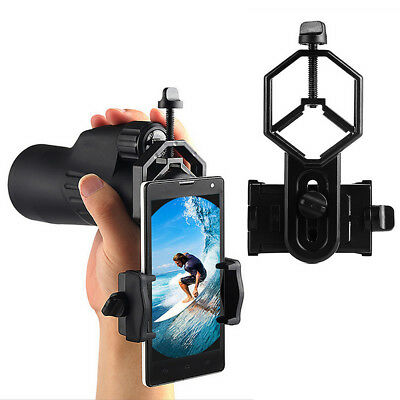 Mobile Phones Cam Adapter Telescope Spotting Scope Microscope Mount Holder KU