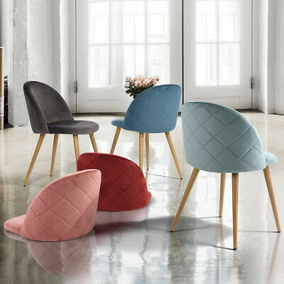 Velvet Accent Leisure Chair Modern Kitchen Dining Chair Set Of 2 Wind Back Chair