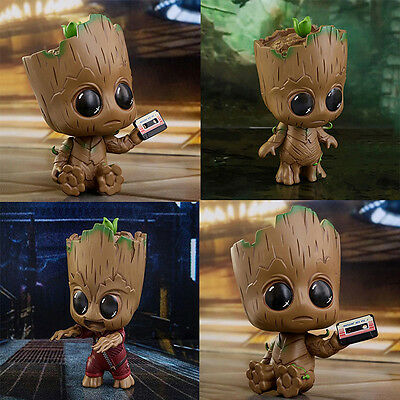Guardians of The Galaxy Vol. 2 Baby Groot Model Brush Pot Flowerpot Cute Toys