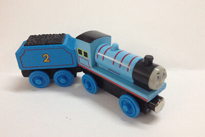 2pcs Thomas & Friends Railway Train Edward and Tender Set Magnetic Wooden Toy