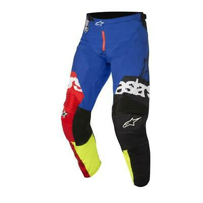 NEW Alpinestars 2018 Racer Flagship Pant - Red/Yellow/Blue from Moto Heaven