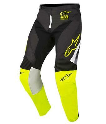 NEW Alpinestars 2018 Racer Supermatic Pant - Black/Yellow Fluro from Moto Heaven