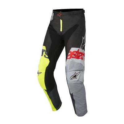 NEW Alpinestars 2018 Racer Flagship Pant - Yellow/Black/Grey from Moto Heaven