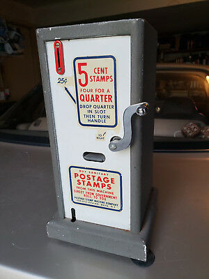 Vintage U.S. Postage Stamp Machine Company Vending 5 Cent Government 25cent Roll