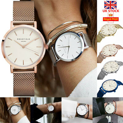 UK Men Women Unisex Stainless Steel Wrist Watch Luxury Dial  Analog Quartz Watch