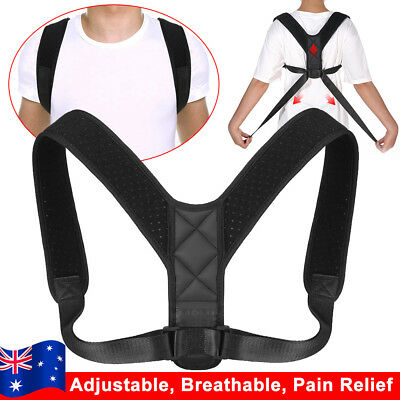 Posture Clavicle Corrector Back Straight Support Shoulders Brace Strap Therapy