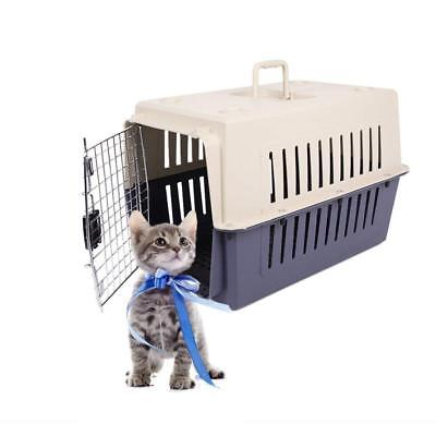 Portable Cat & Dog Plastic Carrier Cage with Chrome Door Crate Pet Carrier Box